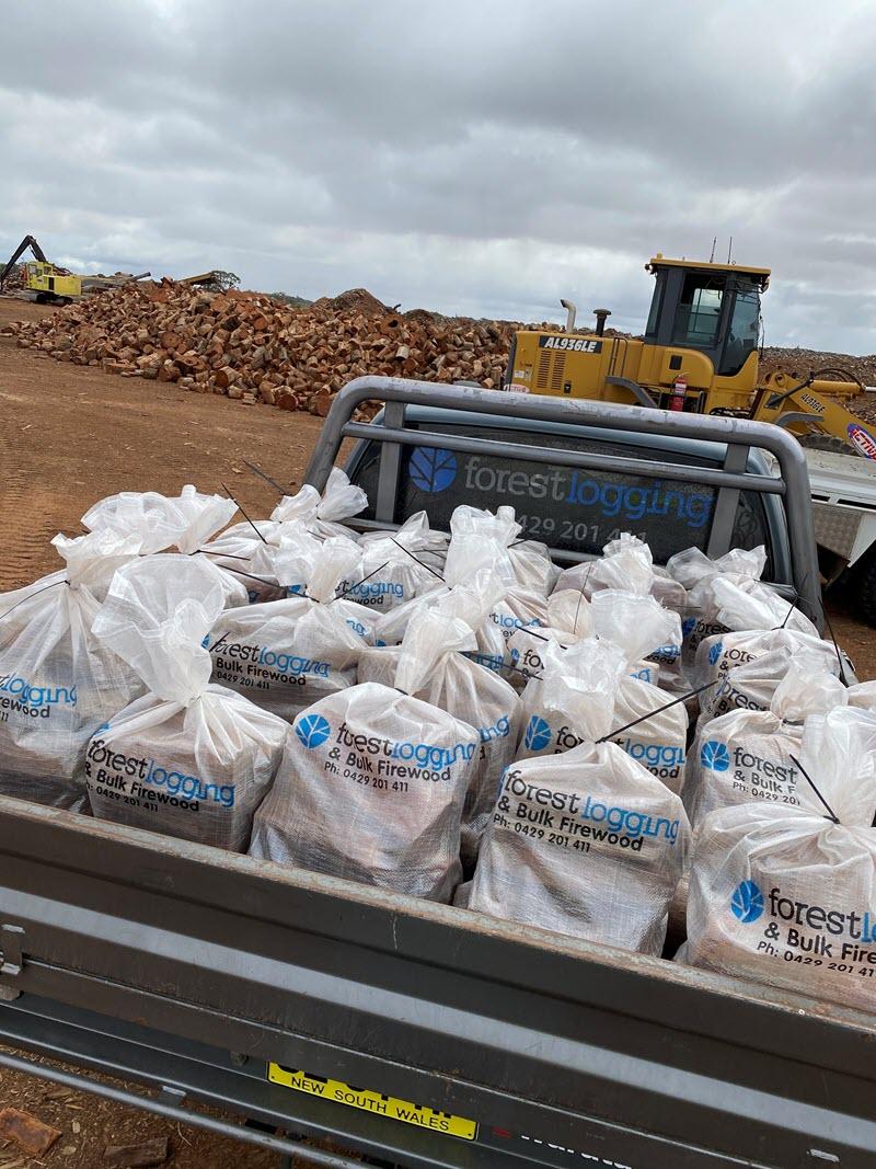 wholesale bagged redgum firewood